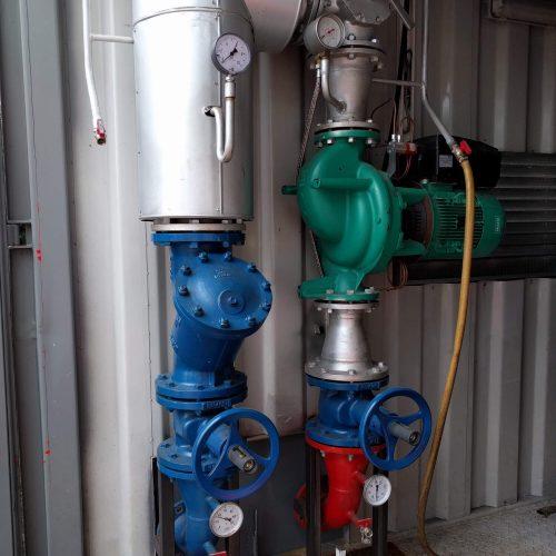 Chaudière 2300kW mixte installation