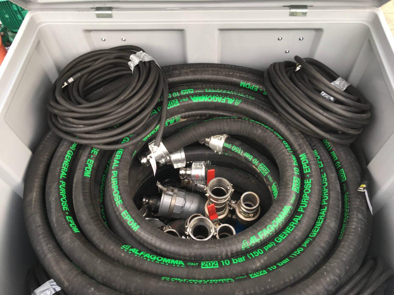 Flexibles et cables d'une chaudirèe