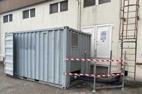 installation chaudière gaz container